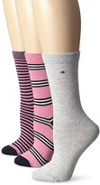 Tommy Hilfiger Women's 3-pack Dual Stripe Sock