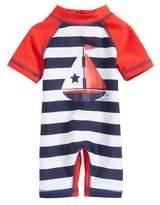 Little Me Sailboat UPF 50+ One-Piece Rashguard Swimsuit