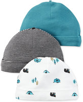 Carter's Baby Boys' 3-Pack Little Wild One Assorted Caps
