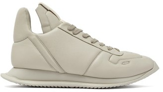Rick Owens Maximal Leather Trainers - Mens - Beige
