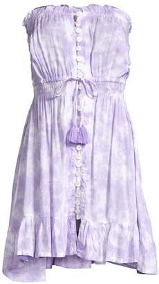 Tiare Hawaii Ryden Strapless Drawstring Tassel A-Line Dress