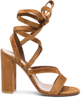 Gianvito Rossi Suede Janis High Sandals