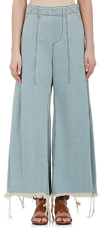 Chloé WOMEN'S FRAYED FLARED JEANS