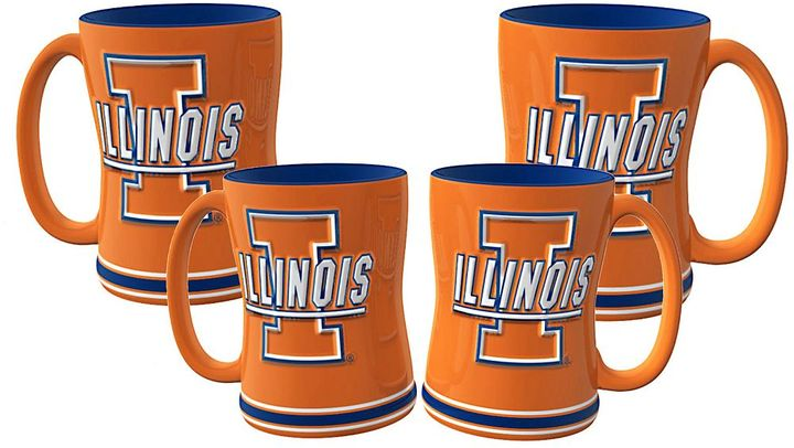 Illinois fighting illini 4-pk. sculpted relief mug
