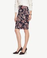 Ann Taylor Petite Geranium Jacquard Pencil Skirt