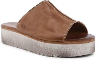 Bed Stu Leather Platform Slide Sandals - Fairlee II
