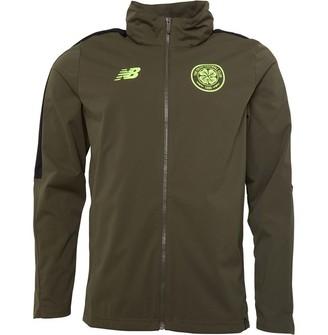 New Balance CFC Celtic Elite Training Presentation Rain Jacket No Sponsor Khaki/Lime