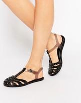 Zaxy Dream T Bar Flat Sandals