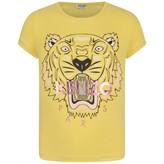 Kenzo KidsGirls Yellow Tiger Print Top