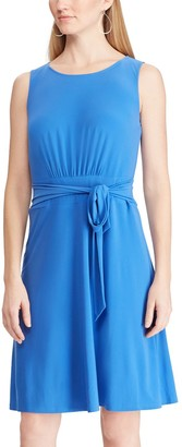 Chaps Women's Pleated Fit & Flare Dress