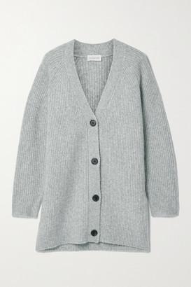 By Malene Birger Canna Merino Wool-blend Cardigan - Gray