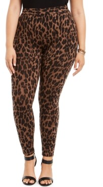 Style&Co. Style & Co Plus Size Leopard-Print Leggings, Created for Macy's