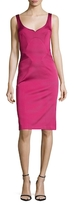 Zac Posen Charlie Seamed V-Neck Sheath Dress