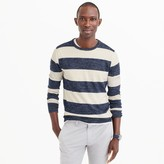 J.Crew Cotton-linen crewneck sweater in wide stripe