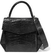 Nancy Gonzalez Glossed-crocodile Shoulder Bag - Black