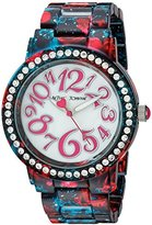 Betsey Johnson Women's Quartz Stainless Steel and Alloy Casual WatchMulti Color (Model: BJ00482-10)