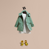 Burberry Hooded Tropical Gabardine A-line Trench Coat