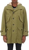 Saint Laurent Men's Cotton-Blend Hooded Parka-DARK GREEN