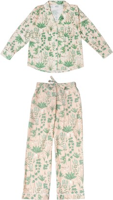 Phriya Women's Pink Circe's Garden Long Pajama Set