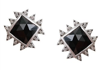 Coomi Silver Vitality Diamond, Black Spinel & Sterling Silver Stud Earrings