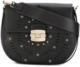 Furla Club floral saddle bag - women - Leather - One Size