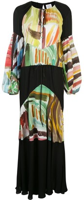 Rosie Assoulin Sutter watercolour abstract-print maxi dress