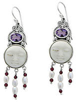 """Novica Artisan Crafted Sterling """"Moon Enchantment"""" Earrings"""