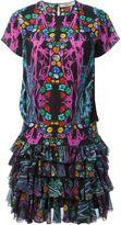 Piccione Piccione Piccione.Piccione - jewel print ruffle dress - women - Silk - 42