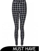 Select Fashion Fashion Womens Grey Grid Check High Waist Trouser - size 6