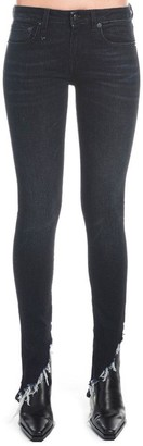 R 13 Frayed Hem Skinny Jeans
