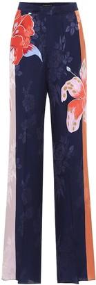 Etro Floral jacquard wide-leg pants
