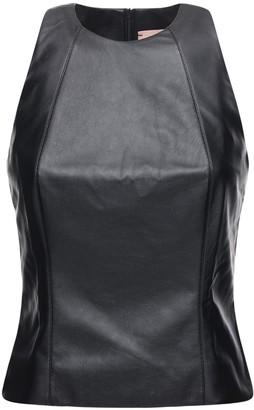 Liya Sleeveless Faux Leather Top