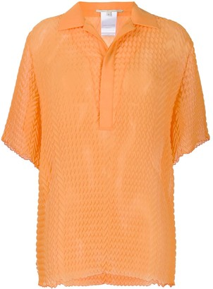 Marco De Vincenzo Herringbone Pattern Polo Top