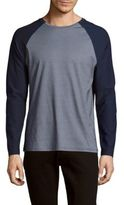 Vince Camuto Cotton-Blend Long-Sleeve Tee
