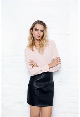 Firetrap Blackseal Black PU Skirt
