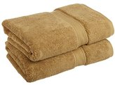 Superior 900 Gram 100% Premium Long-Staple Combed Cotton 2-Piece Bath Towel Set, Toast