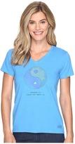 Life is Good Om Ying Yang Crusher Vee Women's T Shirt