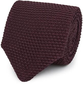 Reiss Jackson - Silk Knitted Tie in Bordeaux