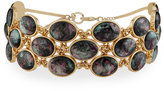 Lydell NYC Simulated Abalone Statement Choker Necklace, Multi