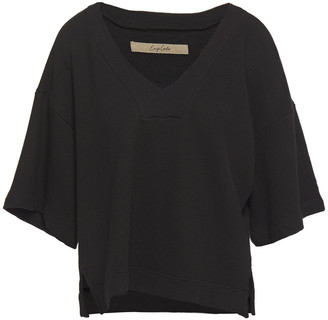 Enza Costa French Cotton-blend Terry Top