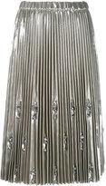 No.21 embellished and pleated skirt - women - Polyester/Polyurethane - 40