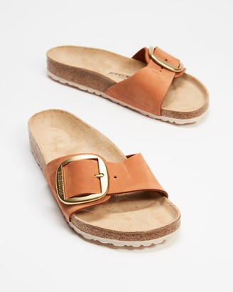 Birkenstock Women's Brown Flat Sandals - Madrid Big Buckle - Women's - Size 37 at The Iconic