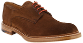 John Lewis & Co. Made In England Suede Derby Shoes, Brown