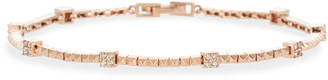 Stevie Wren 14k Rose Gold Pyramid Diamond Tennis Bracelet