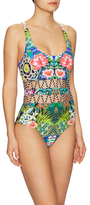 Red Carter Zigzag Waist Cut-Out One Piece Swimsuit