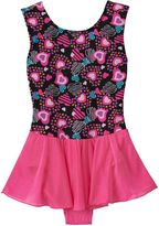 Jacques Moret Girls 4-14 Heart Shapes Skirtall Leotard