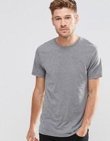 Esprit Basic Crew Neck T-Shirt in Medium Gray