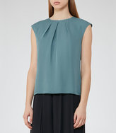 Reiss Sylvia Button-Back Tank Top
