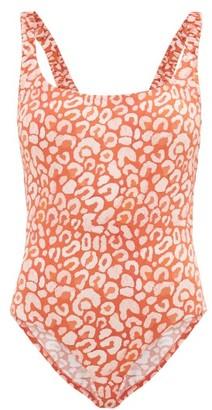 Fisch Select Ruched-strap Leopard-print Swimsuit - Leopard
