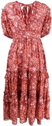 Ulla Johnson Floral Print Flared Dress